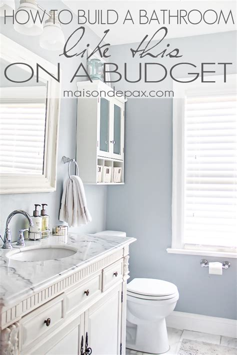 Bathroom Makeover Ideas On A Budget by Bathroom Renovations Budget Tips