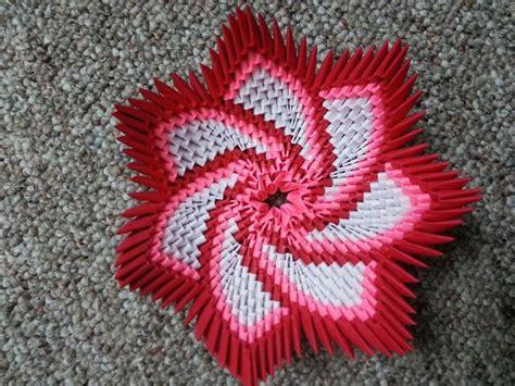 3d flower origami origami spiral flower bowl https www etsy listing