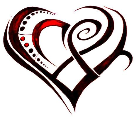 free heart tattoo designs clipart best