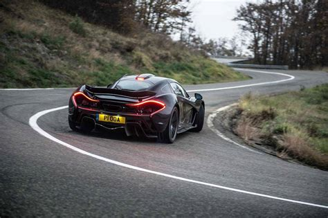 awesome black mclaren p1 drifting on the road   SSsupersports