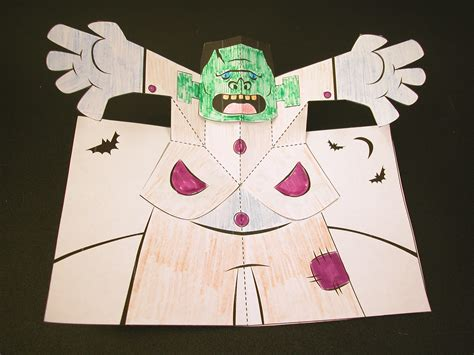 how to make a popout card how to make a frankenstein pop up card robert sabuda method