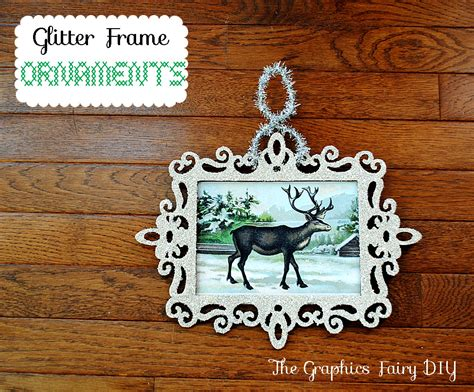 photo frame ornaments for tree how to make glitter frame ornaments the graphics