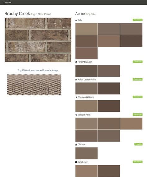 behr paint color new brick brushy creek elgin new plant king size acme behr ppg