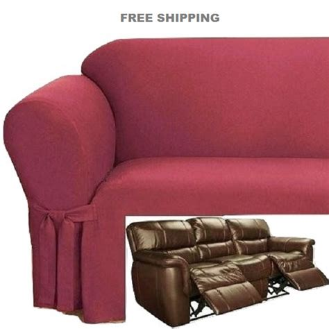 sure fit dual reclining sofa slipcover sure fit dual reclining sofa slipcover dual reclining