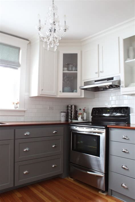 paint kitchen cabinets two colors modern two tone cabinets reveal