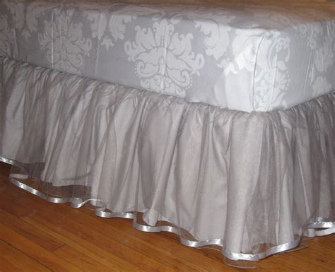 black bed skirt daybed tulle bedskirt select your size colors