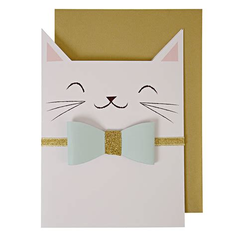 ideas for birthday invitations homemade carte chat meri meri pour chambre enfant les enfants du