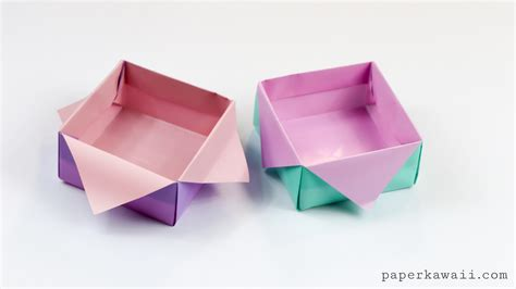 origami with origami masu box variation tutorial paper kawaii