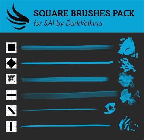 paint tool sai square brush deviantart and squares on