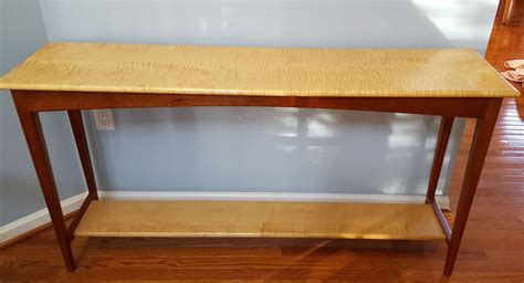 cherry sofa table made curly maple and cherry sofa table by lehigh