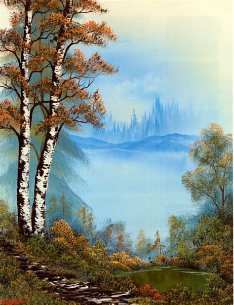 bob ross painting birch trees let s a contest to make the time go by quicker