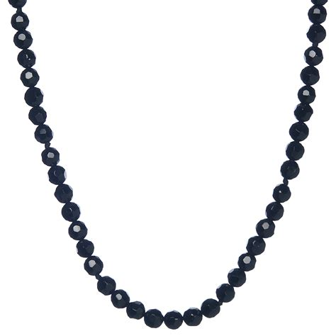 onyx bead necklace lita sterling silver faceted black onyx bead necklace 24