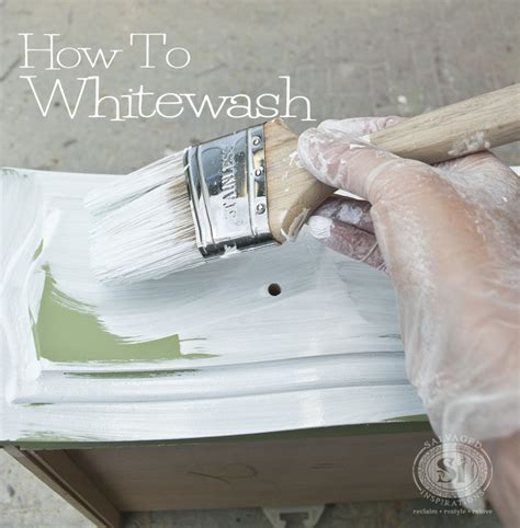 chalk paint wash tutorial how to whitewash wood furniture salvaged inspirations