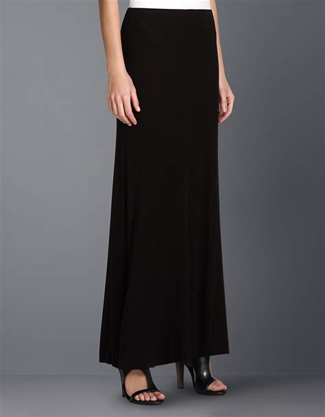 knit maxi skirts bcbgmaxazria knit maxi skirt in black lyst