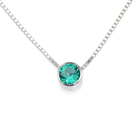 emerald necklace emerald necklace may birthstone by lilia nash jewellery