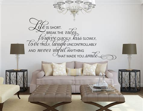 inspirational quotes for room living room wall decals is quote wall