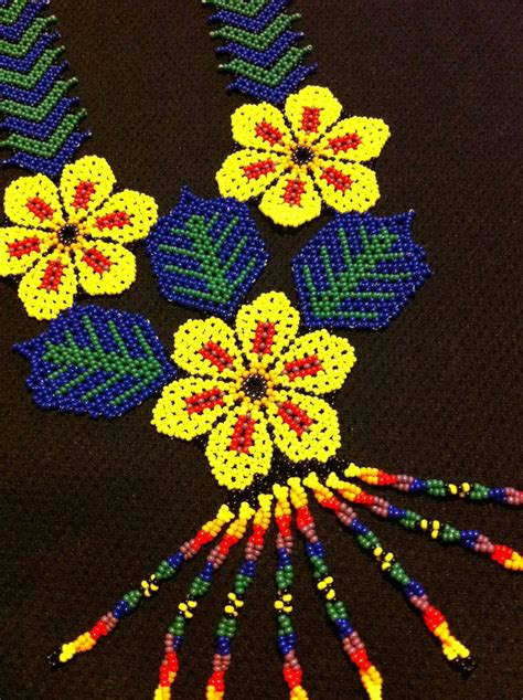 huichol beading tutorial huichol peyote beaded necklace kate moss necklaces and