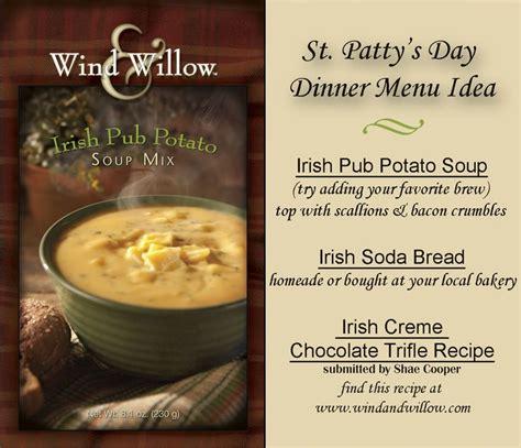 soup kitchen menu ideas st patty s day menu idea with wind willow pub potato soup this idea make it st
