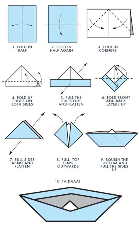 origami boat printable step by step for origami boat projects