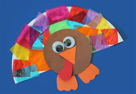 tissue paper turkey craft arts and crafts for with paper