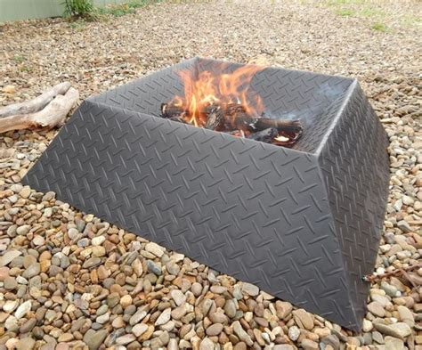 cool firepit how to make a cool and compact pit from half a sheet