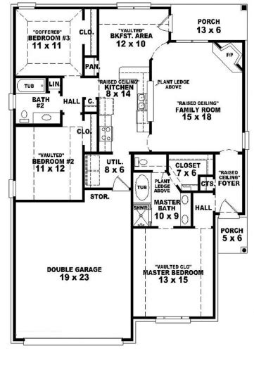 3 bedroom 3 bath house plans best 3 bedroom house plans home designs celebration homes 2 bathroom house plans for three