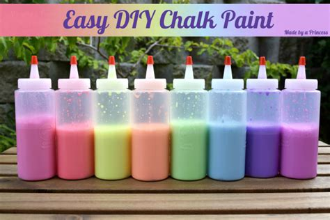 chalk paint easy easy diy chalk paint recipe made by a princess