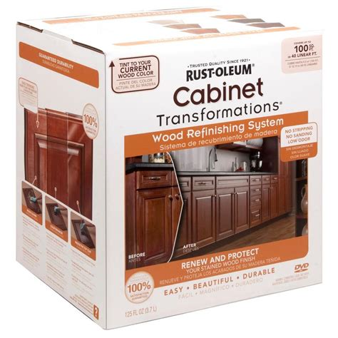 home depot cabinet paint kit rust oleum transformations cabinet wood refinishing system