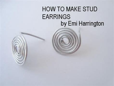 Jewelry How To Make Stud Earrings
