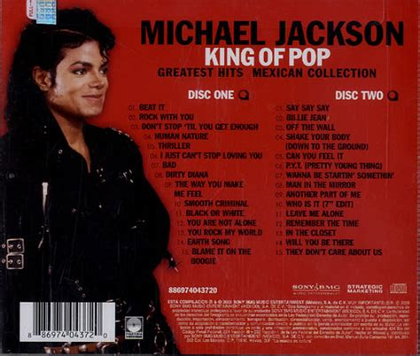best of michael jackson cd michael jackson king of pop the mexican collection