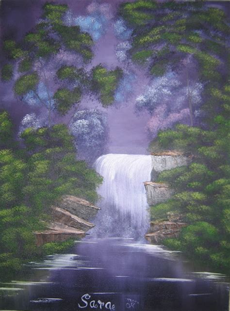bob ross painting a waterfall bob ross style waterfall by laughingstockstables on deviantart