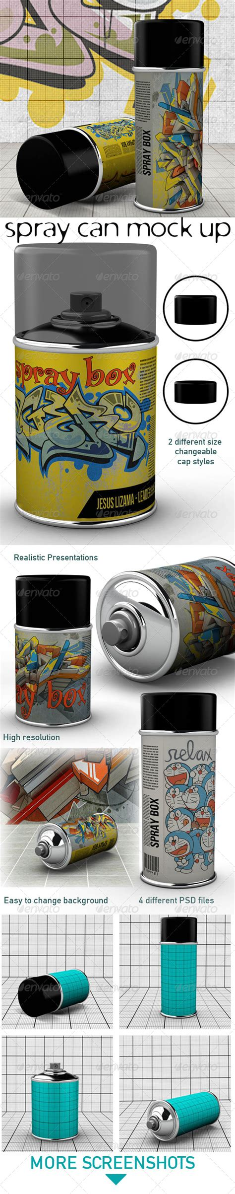 spray paint mockup spray can mock up hardcast de