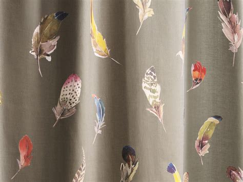 tissu en pour rideaux birds gallery collection paradise by zimmer rohde