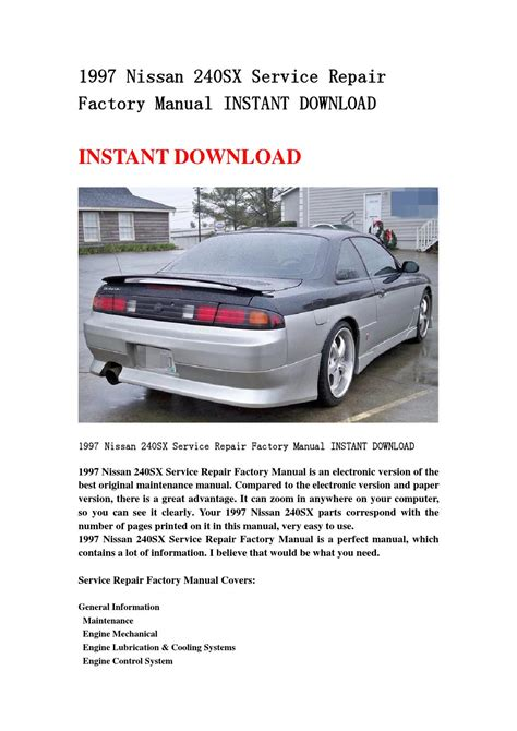 service and repair manuals 1997 nissan 240sx spare parts catalogs 1997 nissan 240sx service repair factory manual instant download by jshenfn issuu