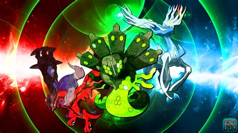 legendarios painting show wallpaper xerneas yveltal and zygarde by