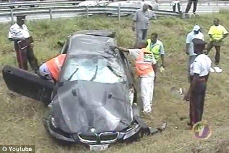 Usain Bolt Crash by World S Fastest Usain Bolt Involved In Car Crash After