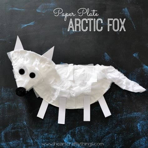 fox crafts for i crafty things paper plate arctic fox craft for