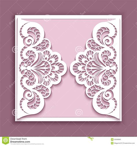 lace templates card square lace wedding card stock vector image 53590863