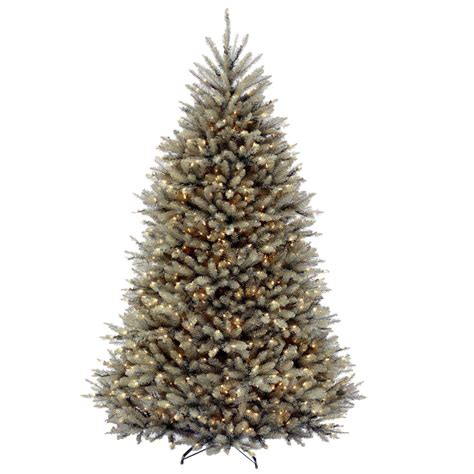 pencil artificial tree with clear lights national tree company 7 5 ft kingswood fir pencil