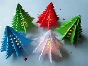bastelanleitung weihnachtsbaum 3d weihnachtsbaum selber basteln diy papier