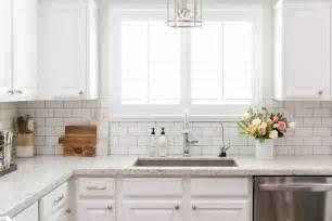 subway kitchen backsplash white granite kitchen countertops with white subway tile