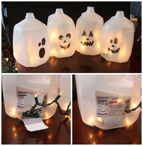 milk jug crafts for home diy milk jug ghosts pictures photos and images