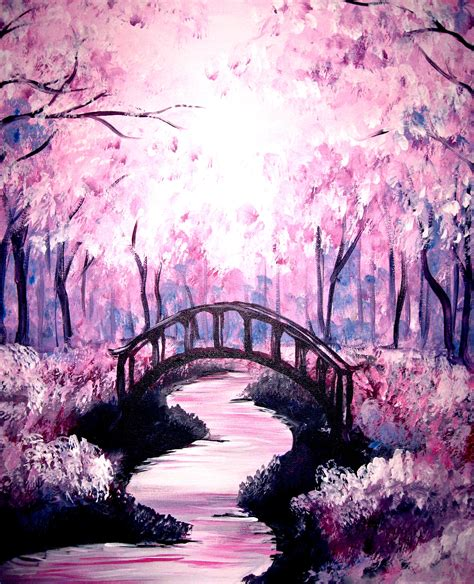 acrylic painting cherry blossom 22 delicate beautiful acrylic painting ideas to try
