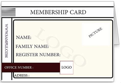 make membership cards free membership card template 23 free sle exle format