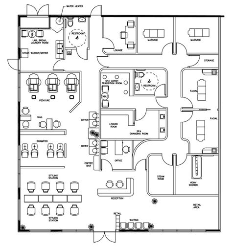 floor plan for hair salon salon floor plan design layout 3375 square foot
