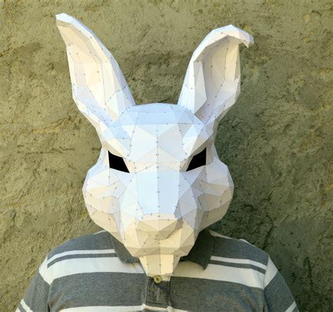 paper craft masks make your rabbit mask papercraft rabbit papercraft mask