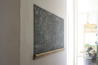 chalkboard paint on drywall the brooding hen a chalkboard in the