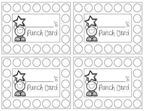 make your own punch cards best 25 behavior punch cards ideas on punched