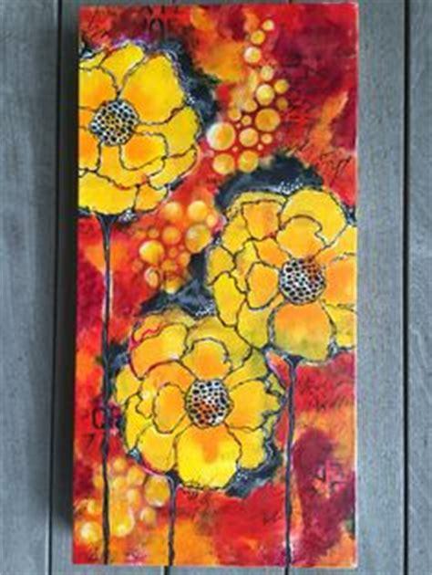 layers of acrylic paint on canvas acrylic paint stencils spray paint on 12x24 canvas