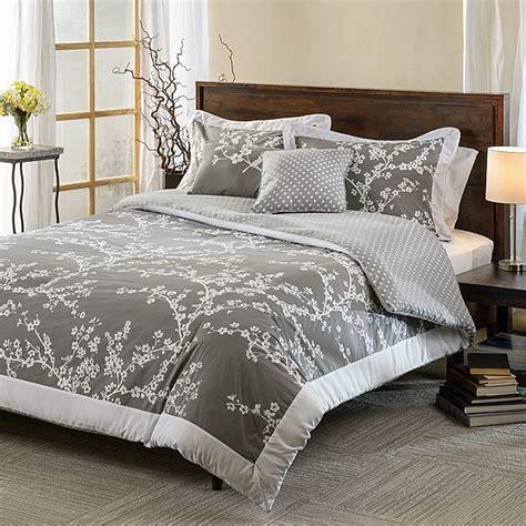 white cotton comforter set hanami grey and white cotton reversible 5 comforter set